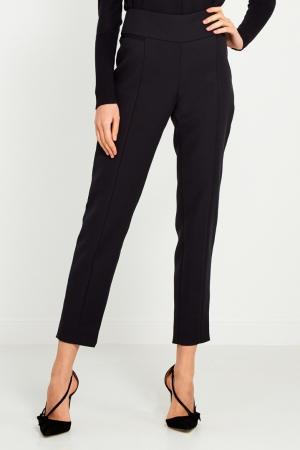 Черные зауженные брюки Chapurin. Цвет: none