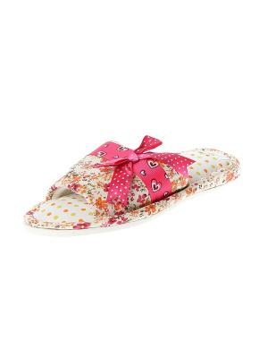 Тапочки домашние детские Migura. Цвет: розовый, белый, бежевый, оранжевый