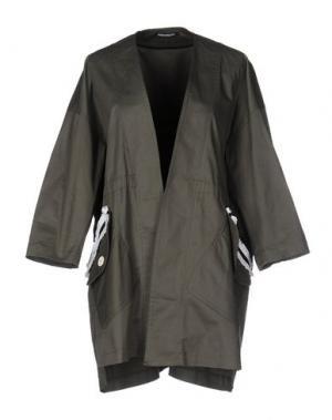 Легкое пальто NINEMINUTES. Цвет: зеленый-милитари