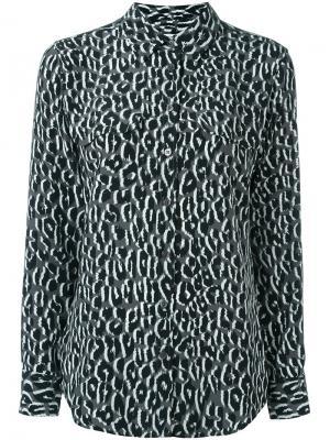 Блузка с леопардовым принтом Equipment. Цвет: серый
