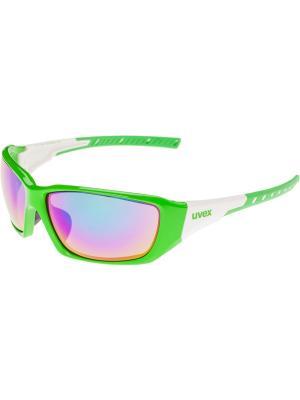 Солнцезащитные очки Uvex. Цвет: зеленый, белый