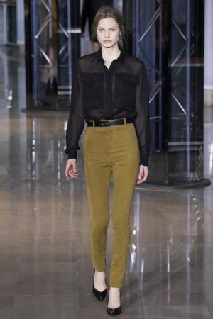 Полупрозрачная блузка Anthony Vaccarello. Цвет: черный