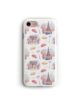 Чехол для iPhone 7/8 Париж Boom Case. Цвет: бледно-розовый, белый, светло-желтый