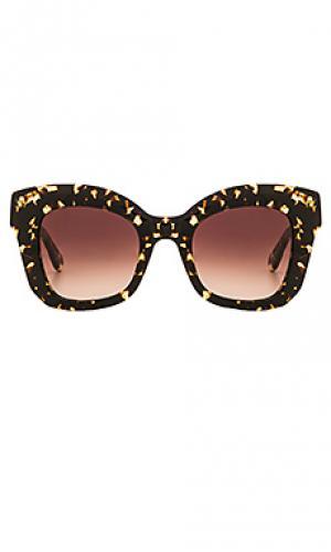 Солнцезащитные очки dauphine KREWE du optic. Цвет: коричневый