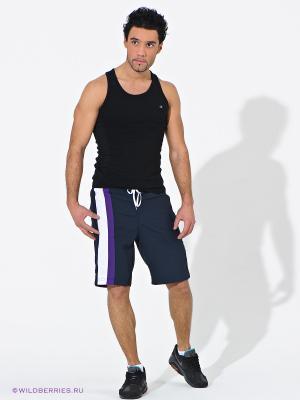 Шорты CHAMPION. Цвет: темно-синий (осн.), фиолетовый, белый