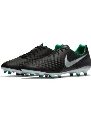 Бутсы MAGISTA ONDA II FG Nike. Цвет: черный, зеленый