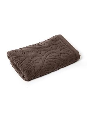 Полотенце для ванной 50х80 см Zelidzh brown WESS. Цвет: коричневый