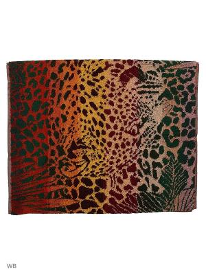 Полотенце махровое пестротканое жаккардовое Леопард в джунглях-2 Авангард. Цвет: зеленый, темно-коричневый