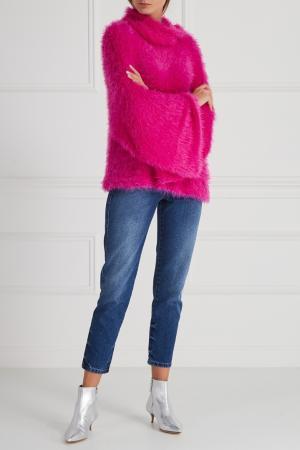 Однотонный свитер Aquilano.Rimondi. Цвет: розовый