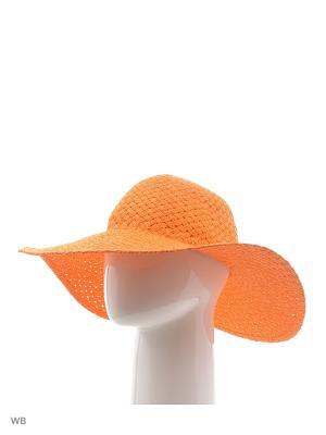 Шляпа United Colors of Benetton. Цвет: оранжевый