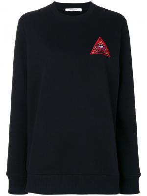 Толстовка с вышивкой треугольника Givenchy. Цвет: чёрный