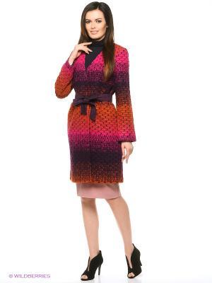 Пальто ZARINA. Цвет: фиолетовый