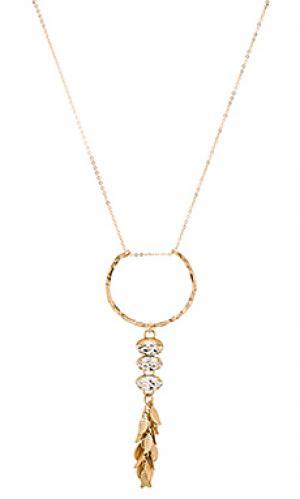 Ожерелье trinity Mimi & Lu. Цвет: металлический золотой