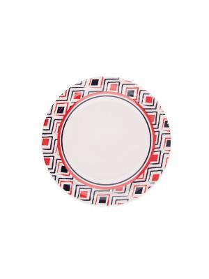 Набор тарелок обеденных МАРАХО 26 см 6 шт Biona. Цвет: белый