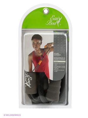 Эспандер для фитнеса 0803CP-6-IB Easy Body. Цвет: черный, серый