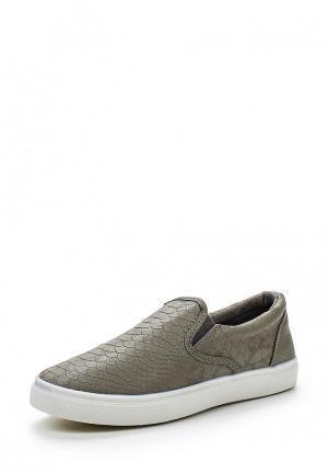 Слипоны WS Shoes. Цвет: серый