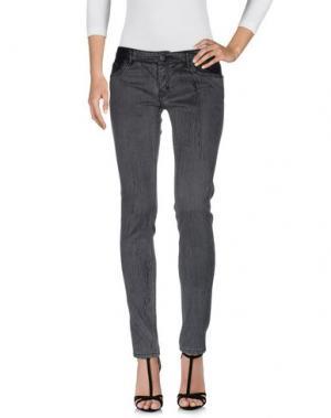 Джинсовые брюки MAJE. Цвет: свинцово-серый
