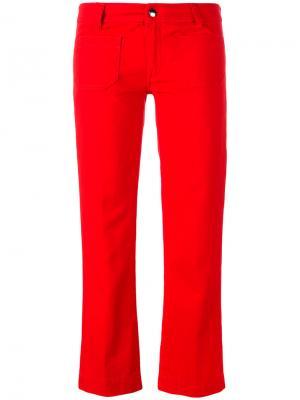 Укороченные джинсы прямого кроя The Seafarer. Цвет: красный