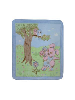 Плед детский Кошки Мышки. Цвет: голубой