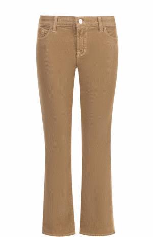 Укороченные расклешенные джинсы из вельвета J Brand. Цвет: бежевый