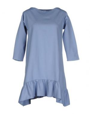 Короткое платье PINK BOW. Цвет: грифельно-синий