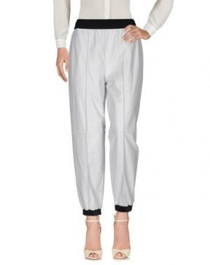 Повседневные брюки VIONNET. Цвет: светло-серый
