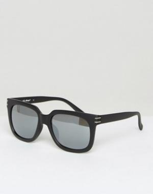 AJ Morgan Квадратные солнцезащитные очки. Цвет: черный