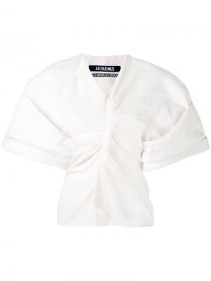 Топ в стиле кимоно Jacquemus. Цвет: белый