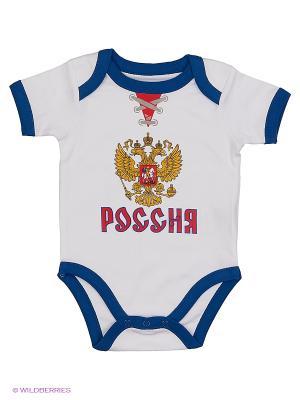 Боди Россия Atributika & Club. Цвет: белый