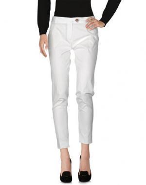 Повседневные брюки AQUASCUTUM. Цвет: белый