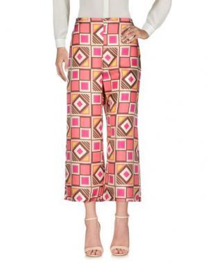 Повседневные брюки MALÌPARMI. Цвет: коралловый