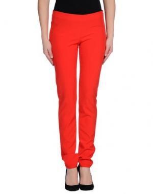 Повседневные брюки BEAYUKMUI. Цвет: красный