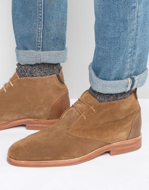 Hudson London Замшевые ботинки чукка Matteo. Цвет: рыжий
