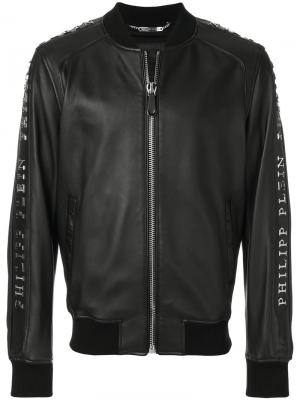Куртка-бомбер на молнии Philipp Plein. Цвет: чёрный