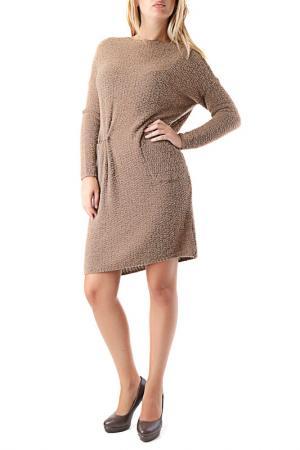 Платье Cristina Gavioli. Цвет: коричневый