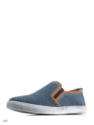 Туфли Dino Ricci. Цвет: голубой, коричневый