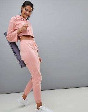 South Beach Розовые джоггеры. Цвет: розовый