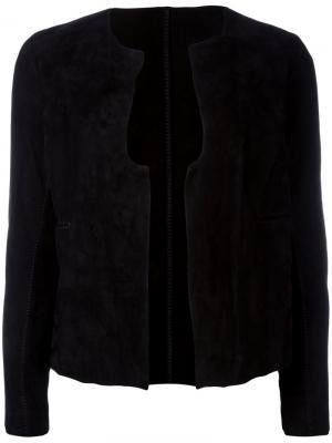 Замшевая куртка Salvatore Santoro. Цвет: чёрный