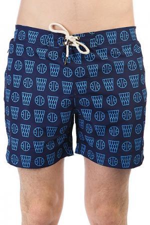 Шорты пляжные  Basketbol Navy Запорожец. Цвет: голубой,темно-синий