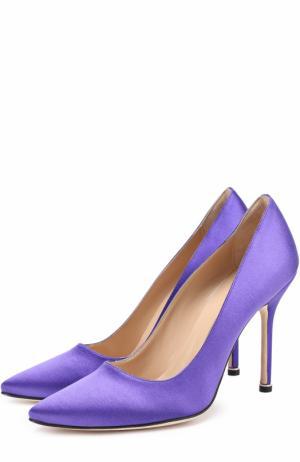 Атласные туфли  X Manolo Blahnik Vetements. Цвет: фиолетовый