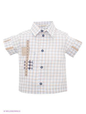Рубашка CHOUPETTE. Цвет: голубой, бежевый, белый