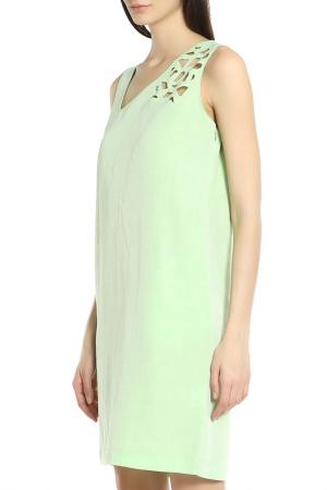 Летнее повседневное платье Oblique. Цвет: зеленый
