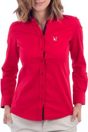 Рубашка POLO CLUB С.H.A.. Цвет: красный