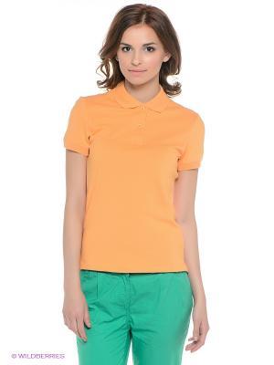 Футболка-поло Baon. Цвет: оранжевый