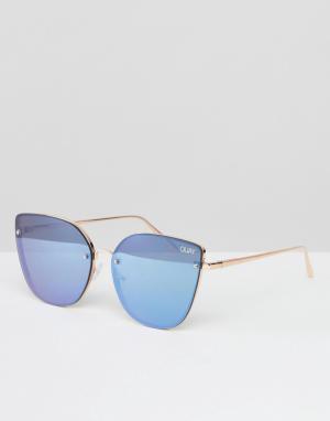 Quay Australia Солнцезащитные очки кошачий глаз Lexi. Цвет: золотой