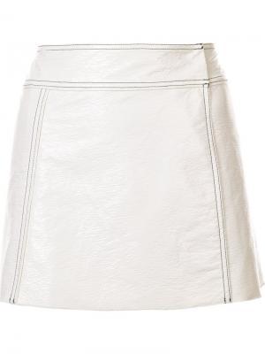 Юбка мини Lou Misha Nonoo. Цвет: белый