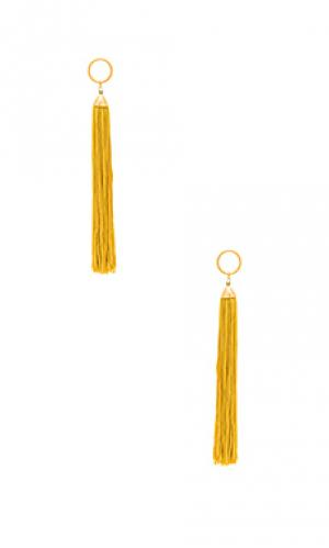 Серьги с кисточками firefly Vanessa Mooney. Цвет: металлический золотой