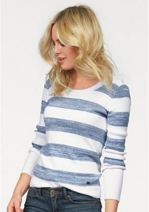 Пуловер Arizona. Цвет: белый/синий