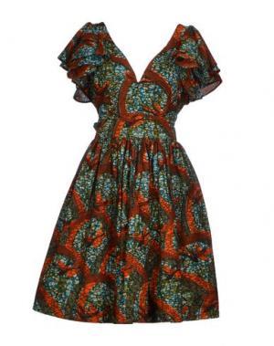 Короткое платье SIKA. Цвет: бирюзовый