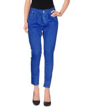 Повседневные брюки QUEEN of LOVE. Цвет: ярко-синий